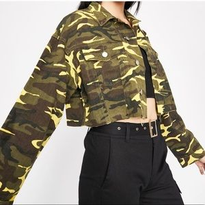 Dolls Kill Cropped Camo Jacket